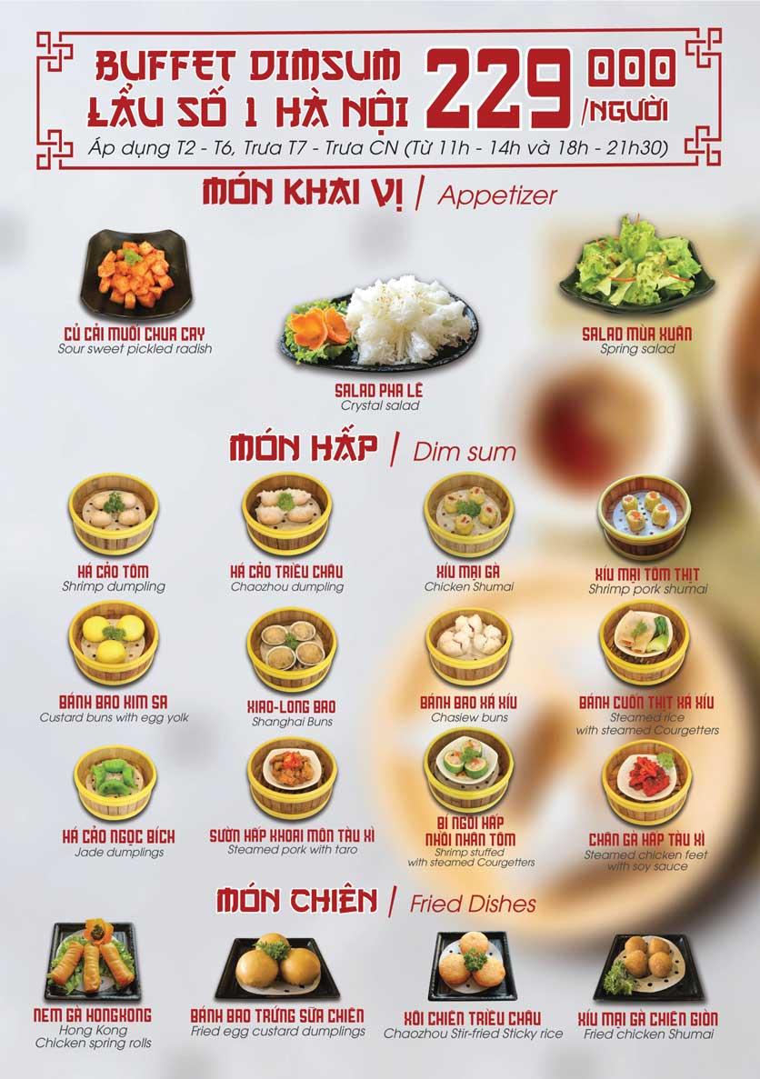 Menu Nhà hàng Dimsum & Lẩu Trung Hoa - FengHuang – Triệu Việt Vương 1