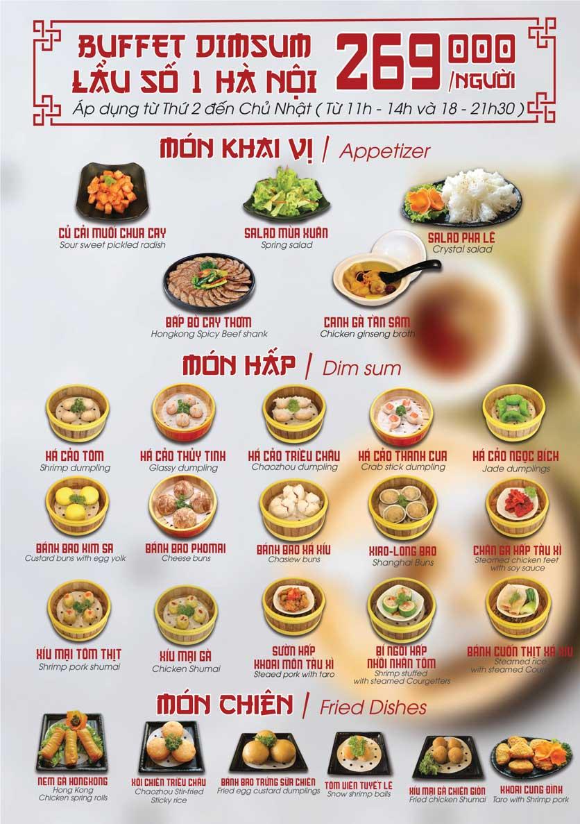 Menu Nhà hàng Dimsum & Lẩu Trung Hoa - FengHuang – Triệu Việt Vương 3
