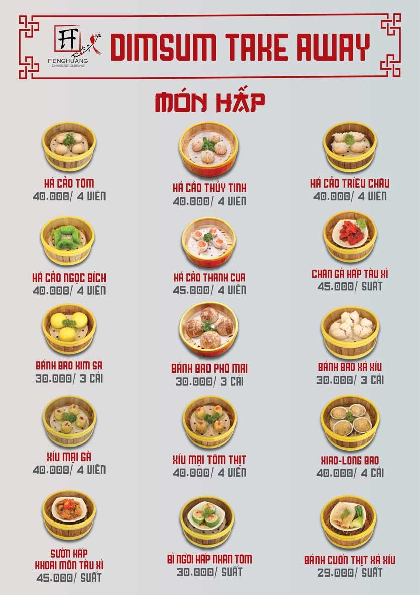Menu Nhà hàng Dimsum & Lẩu Trung Hoa - FengHuang – Triệu Việt Vương 5