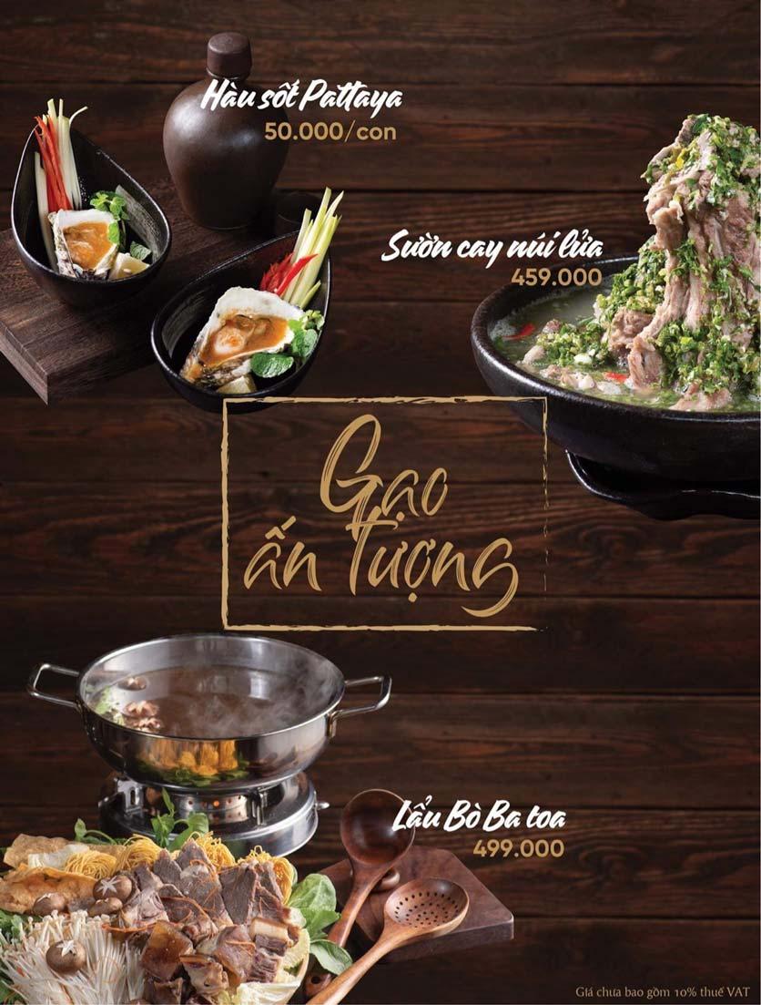 Menu Gạo Restaurant - Đào Duy Từ 1