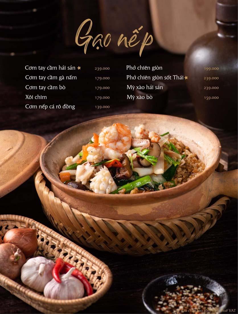 Menu Gạo Restaurant - Đào Duy Từ 10