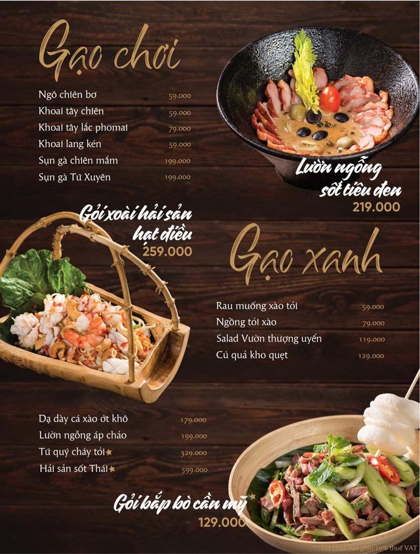 Menu Gạo Restaurant - Đào Duy Từ 6