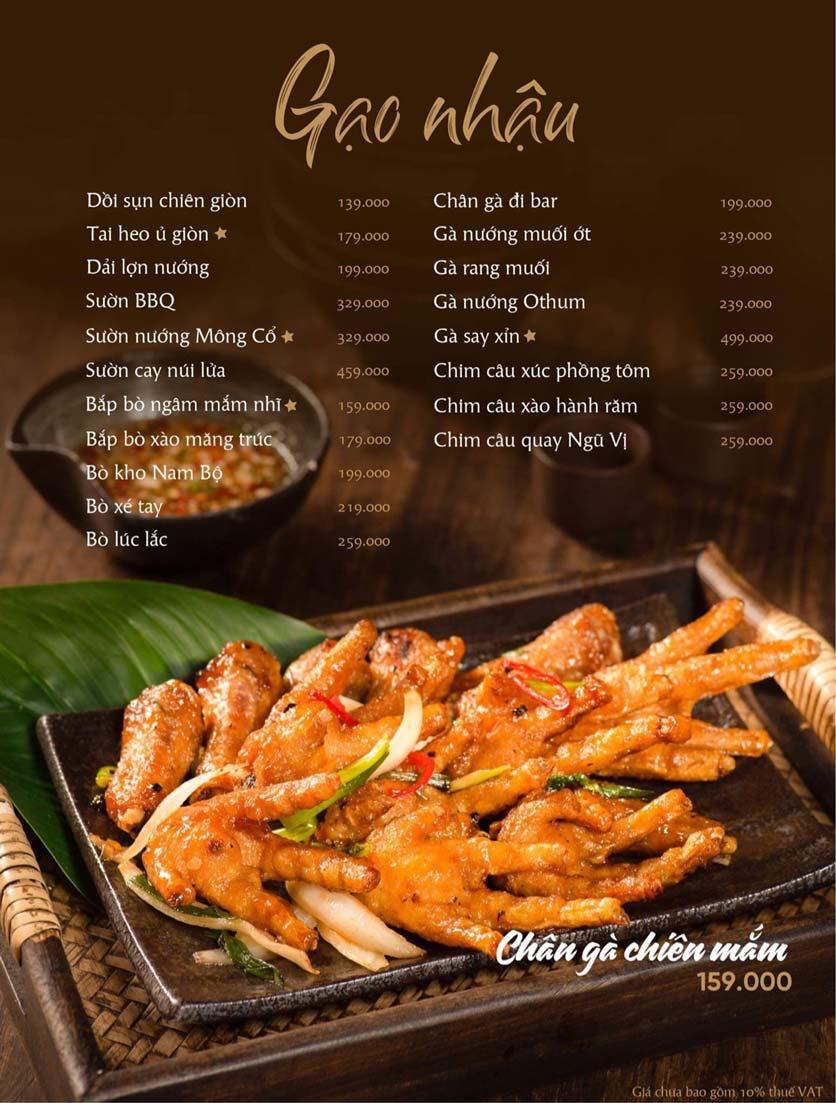 Menu Gạo Restaurant - Đào Duy Từ 7