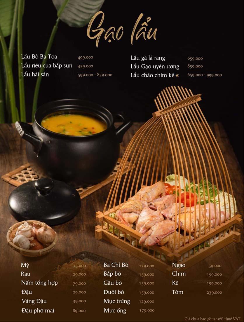 Menu Gạo Restaurant - Đào Duy Từ 9