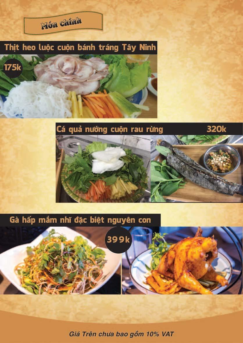 Menu Góc Phố Sài Gòn - Hàng Tre 2