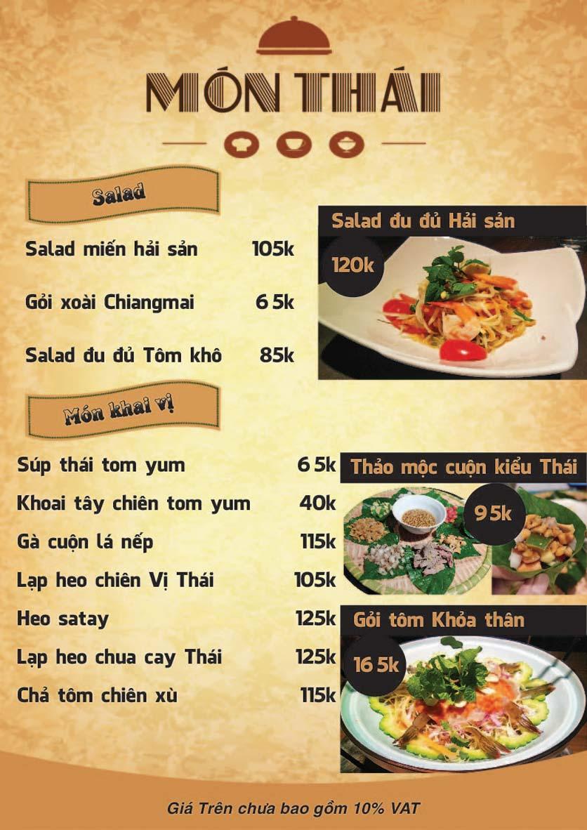 Menu Góc Phố Sài Gòn - Hàng Tre 5