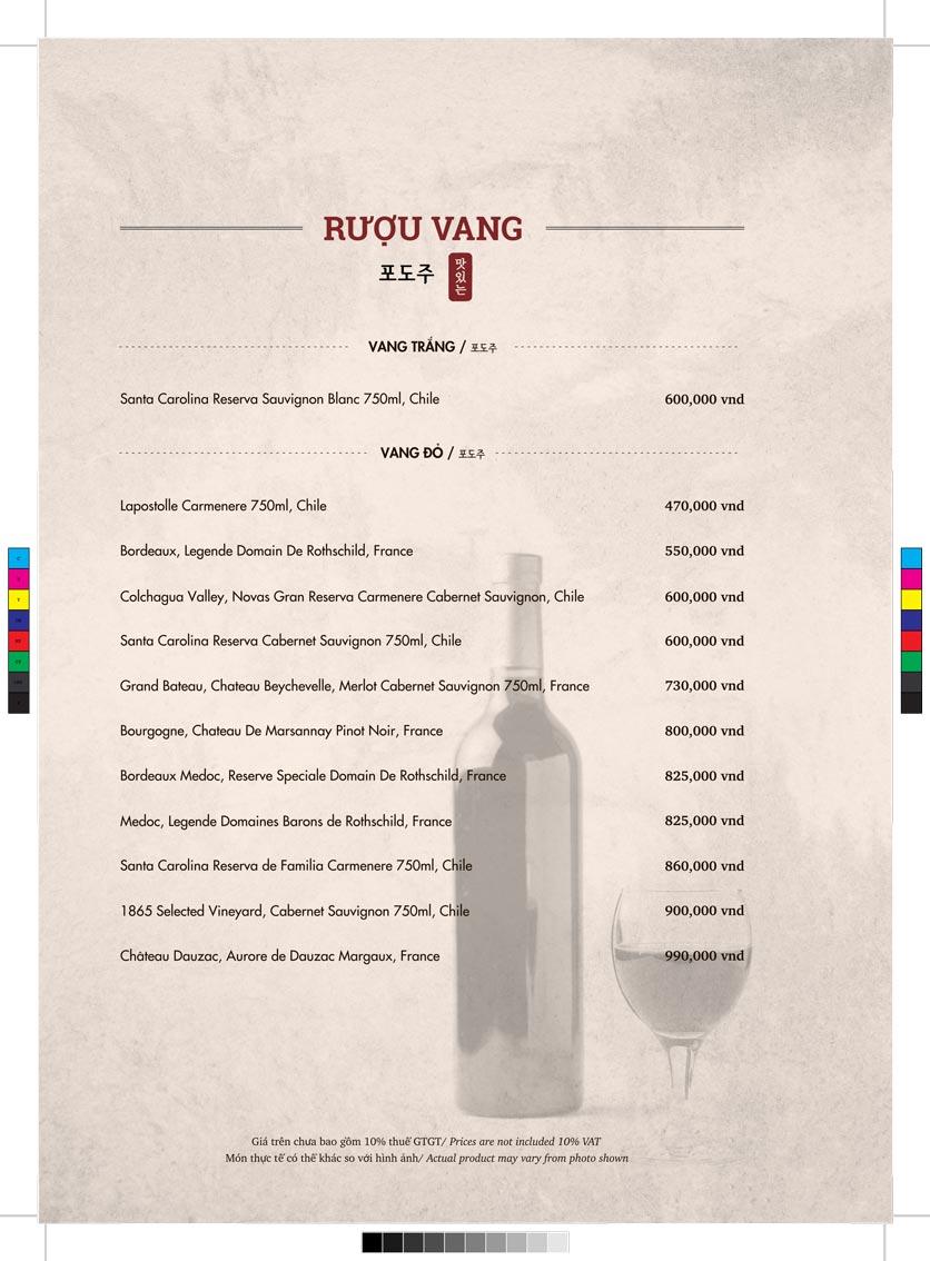 Menu GoGi Steak House - Lê Văn Lương 12