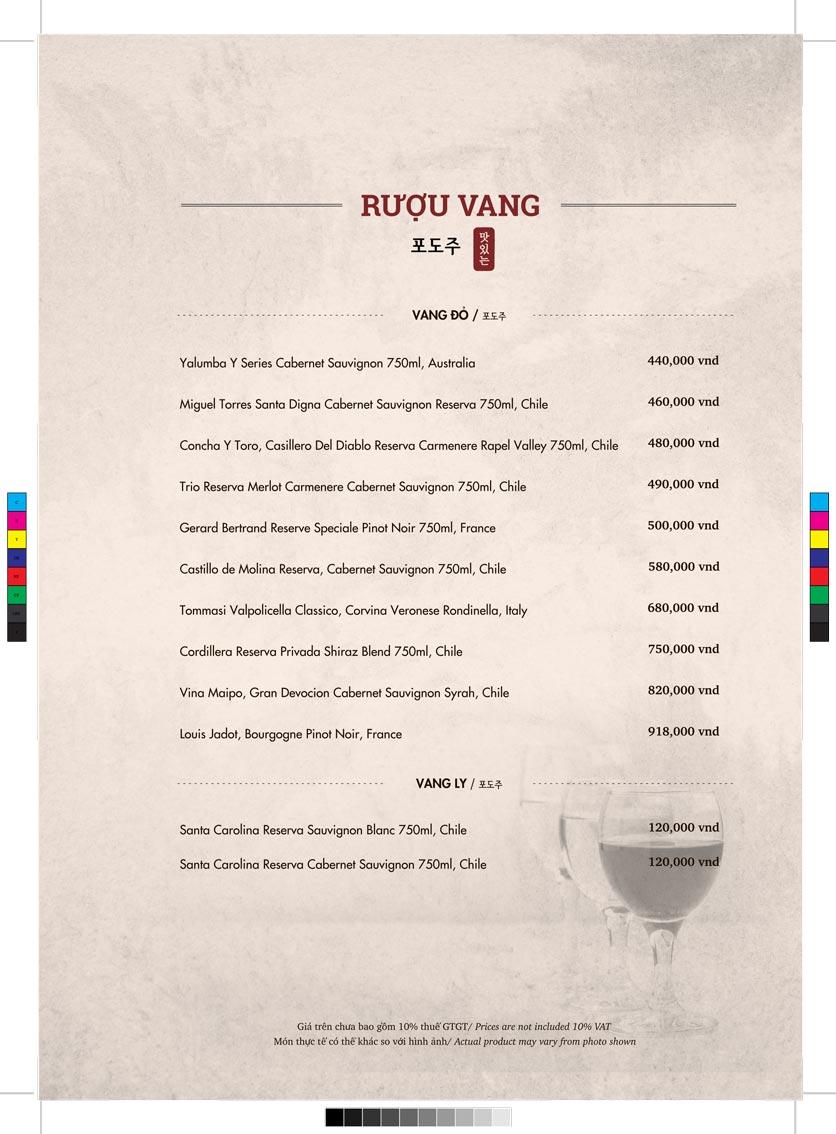 Menu GoGi Steak House - Lê Văn Lương 13