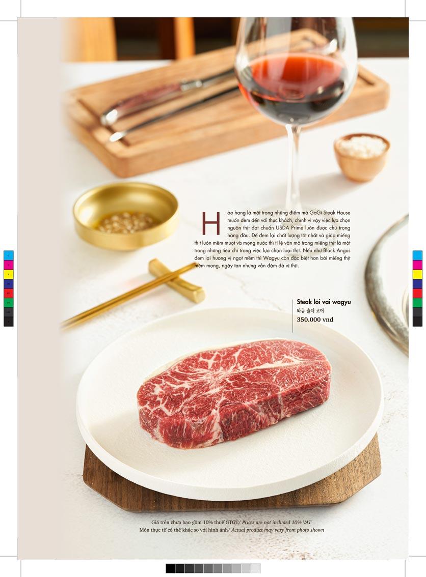 Menu GoGi Steak House - Lê Văn Lương 3