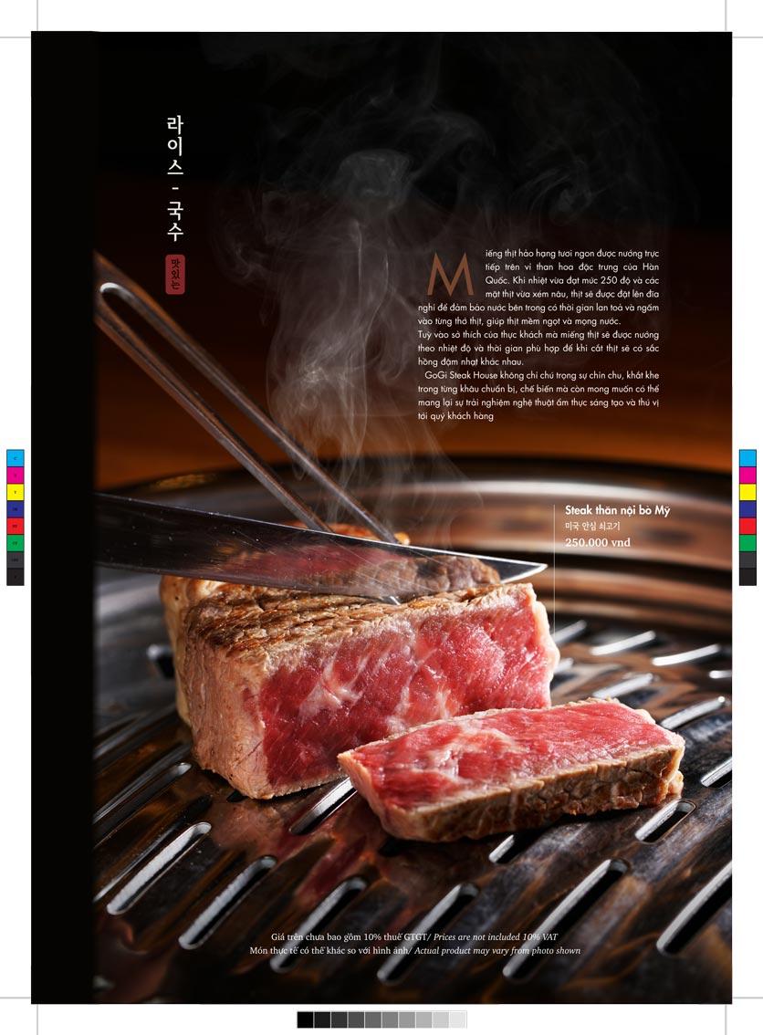 Menu GoGi Steak House - Lê Văn Lương 5