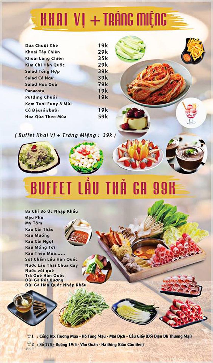 Menu GOPchain – Quán thịt nướng & lẩu Hàn Quốc – Đường 19/5 1