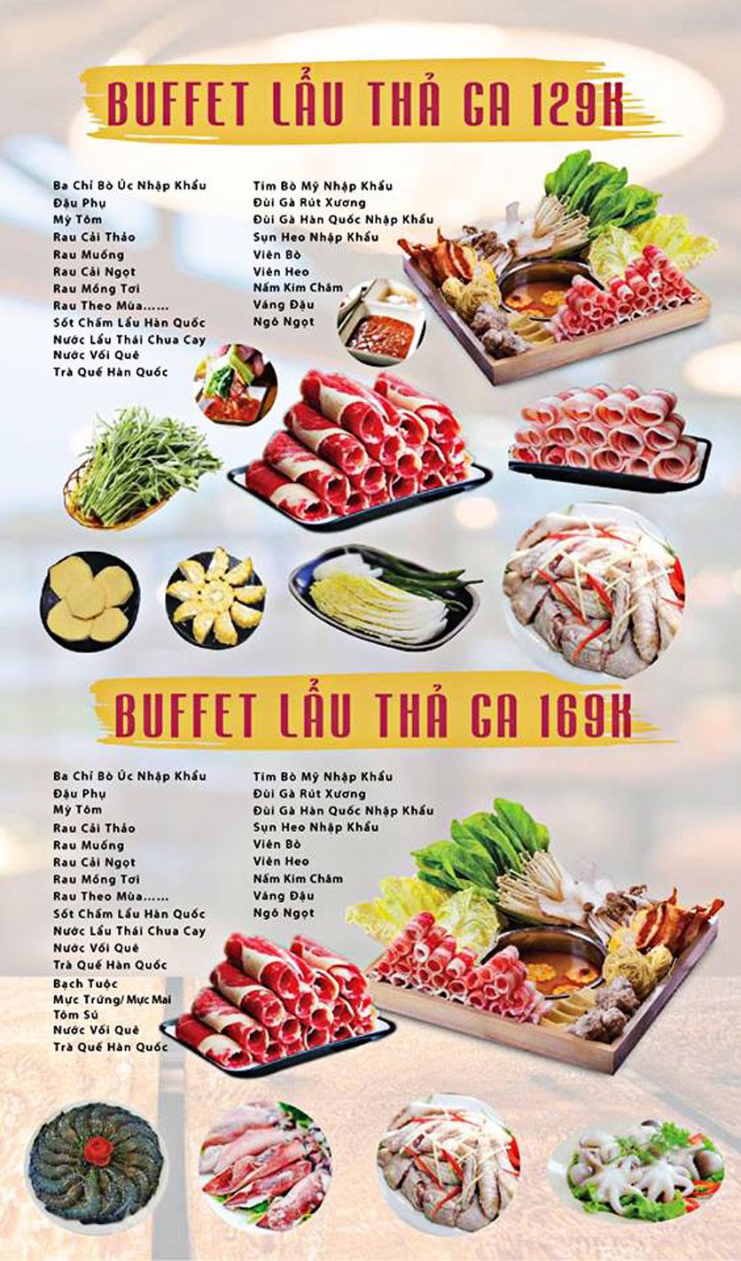 Menu GOPchain – Quán thịt nướng & lẩu Hàn Quốc – Đường 19/5 2