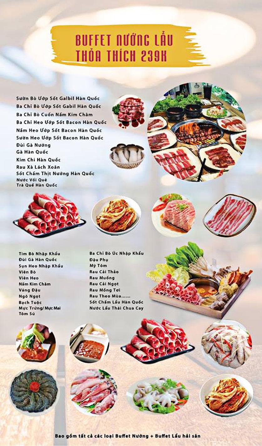 Menu GOPchain – Quán thịt nướng & lẩu Hàn Quốc – Đường 19/5 4