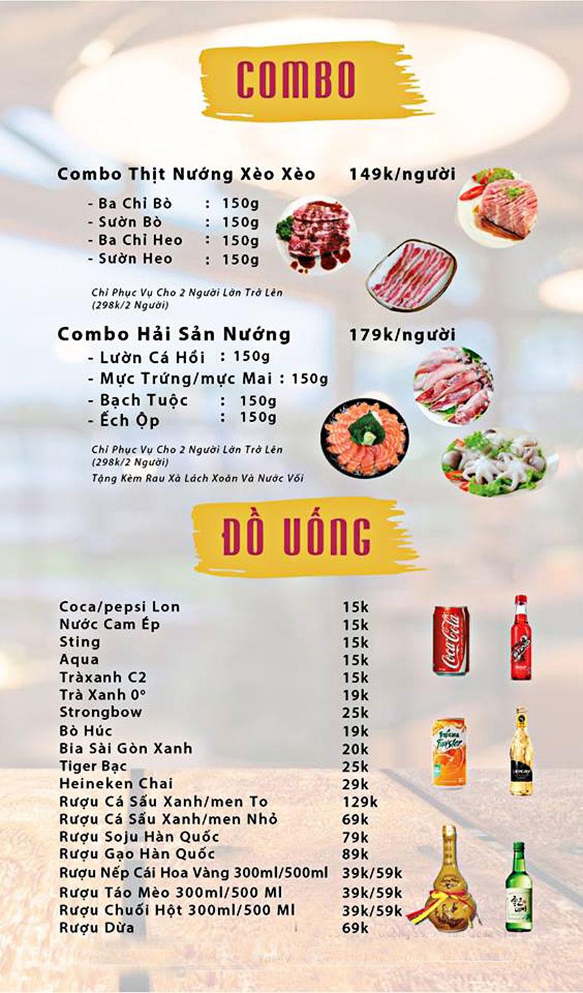 Menu GOPchain – Quán thịt nướng & lẩu Hàn Quốc – Đường 19/5 5