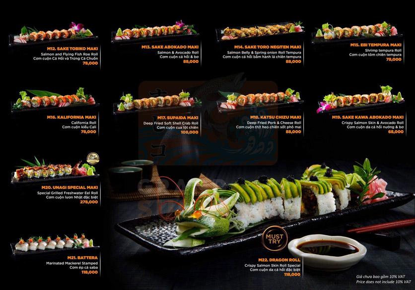 Menu Grand Sushi KO - Xuân Thủy 11