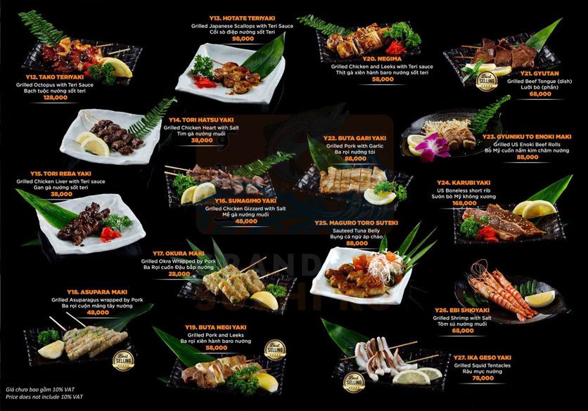 Menu Grand Sushi KO - Xuân Thủy 15