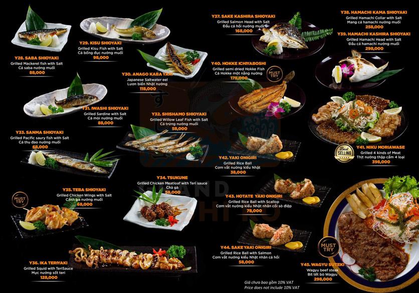 Menu Grand Sushi KO - Xuân Thủy 16
