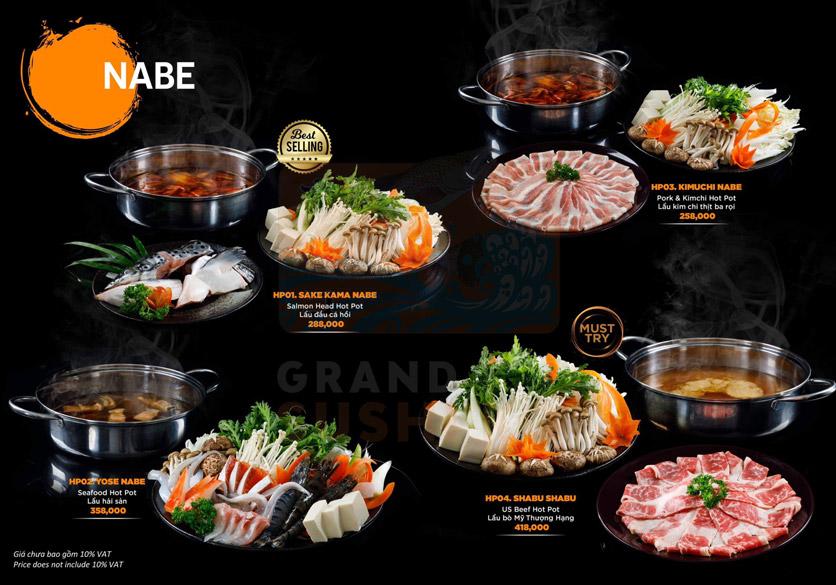 Menu Grand Sushi KO - Xuân Thủy 18