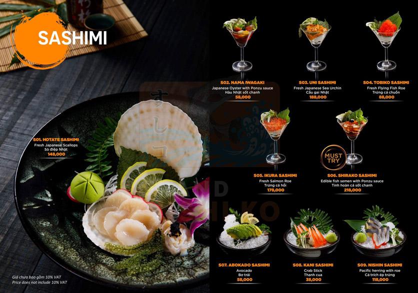 Menu Grand Sushi KO - Xuân Thủy 6