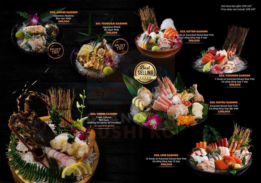 Menu Grand Sushi KO - Xuân Thủy 8