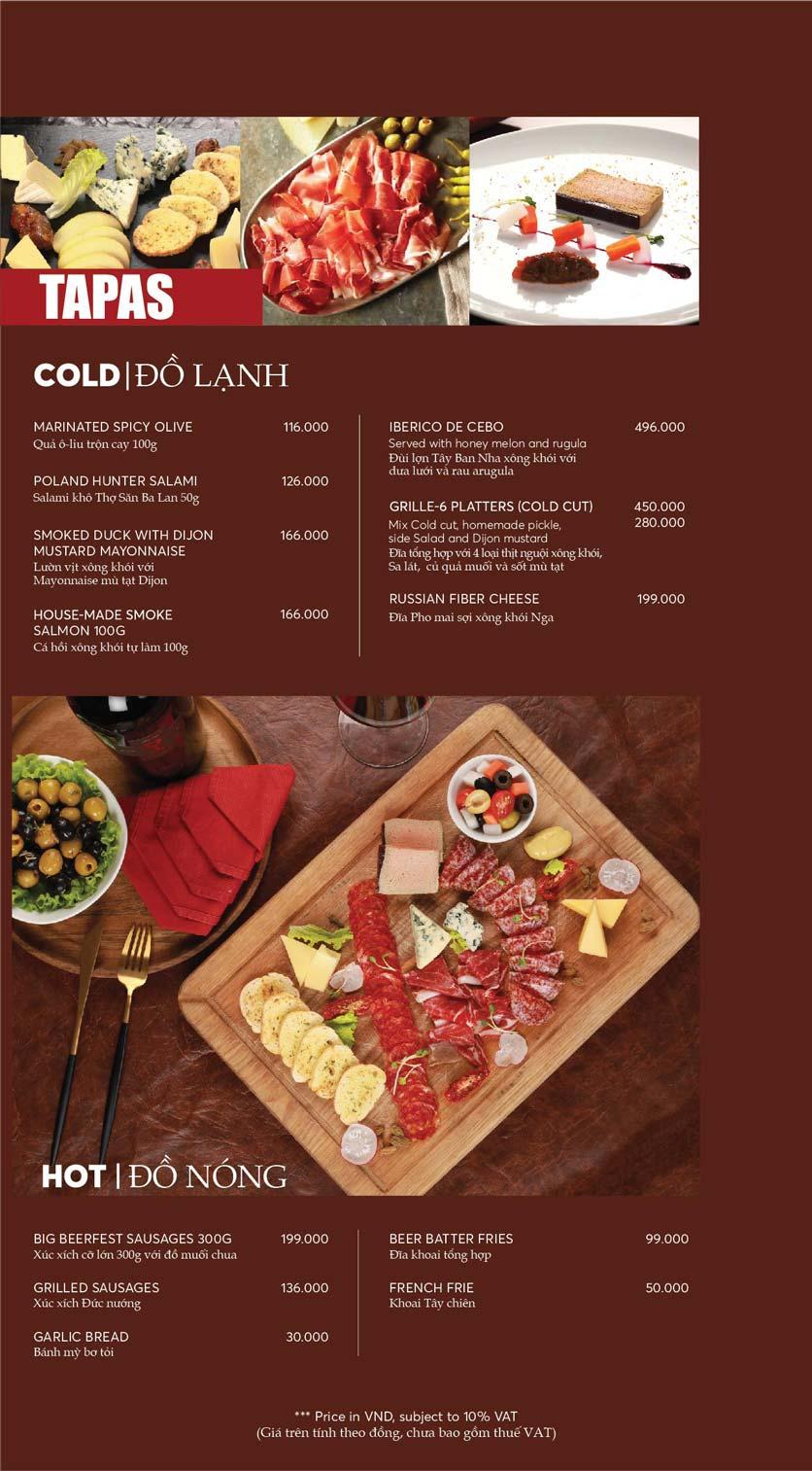 Menu GRILLE6 Steakhouse - Lê Văn Hưu 4