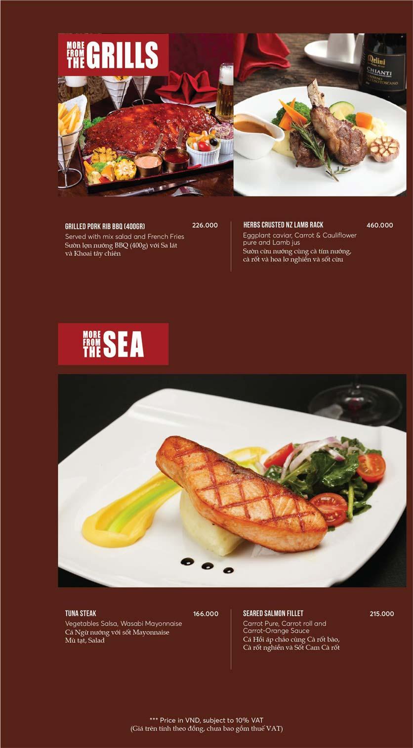 Menu GRILLE6 Steakhouse - Lê Văn Hưu 13