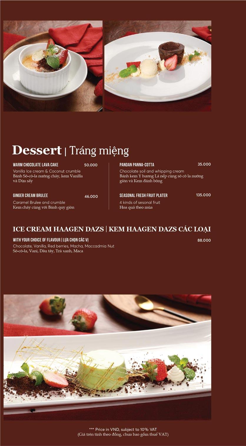 Menu GRILL66 Steakhouse - Hào Nam 13