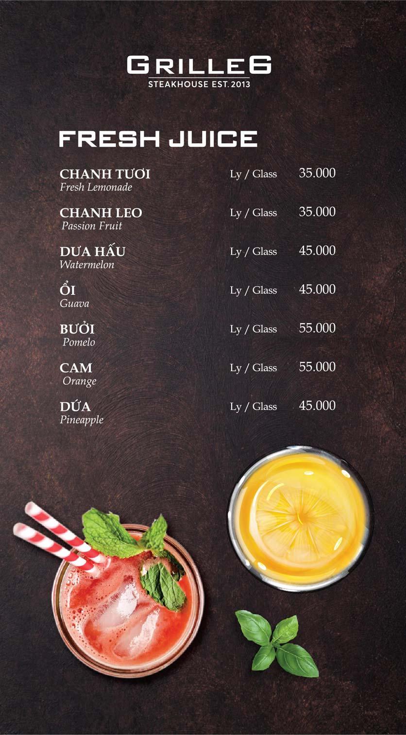 Menu GRILL66 Steakhouse - Hào Nam 16