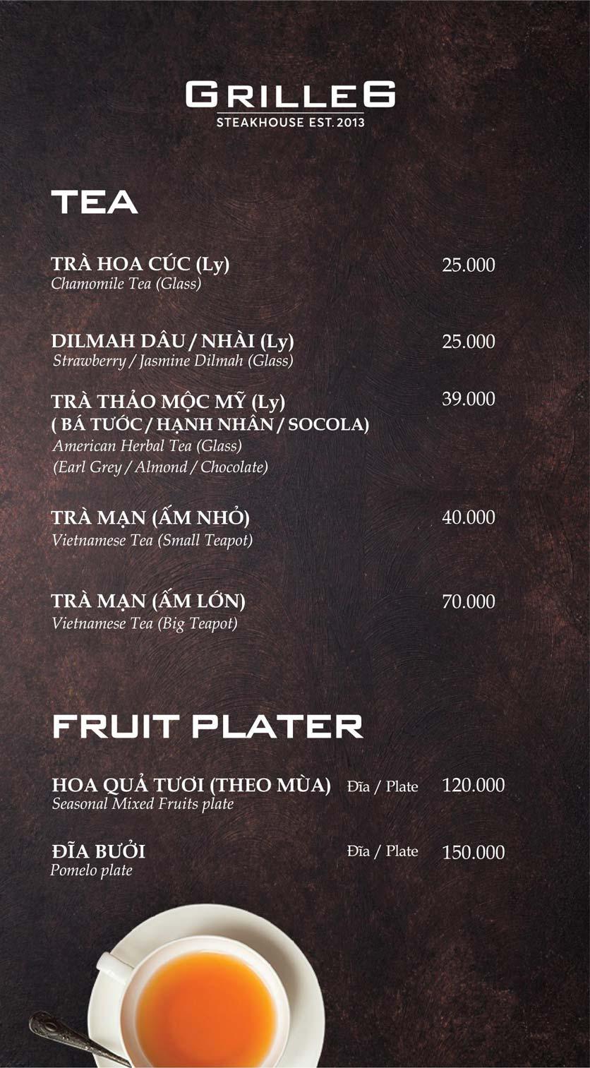 Menu GRILLE6 Steakhouse - Lê Văn Hưu 20