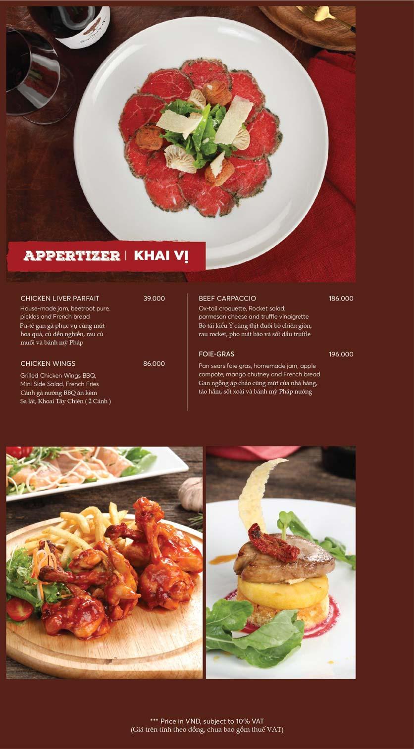 Menu GRILL66 Steakhouse - Hào Nam 3