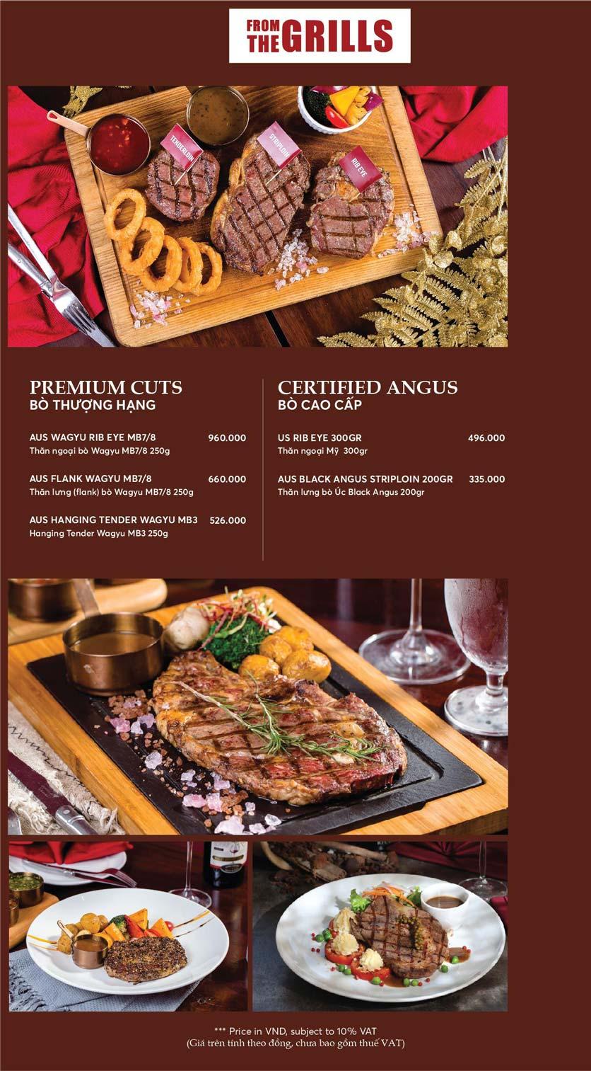 Menu GRILL66 Steakhouse - Hào Nam 7