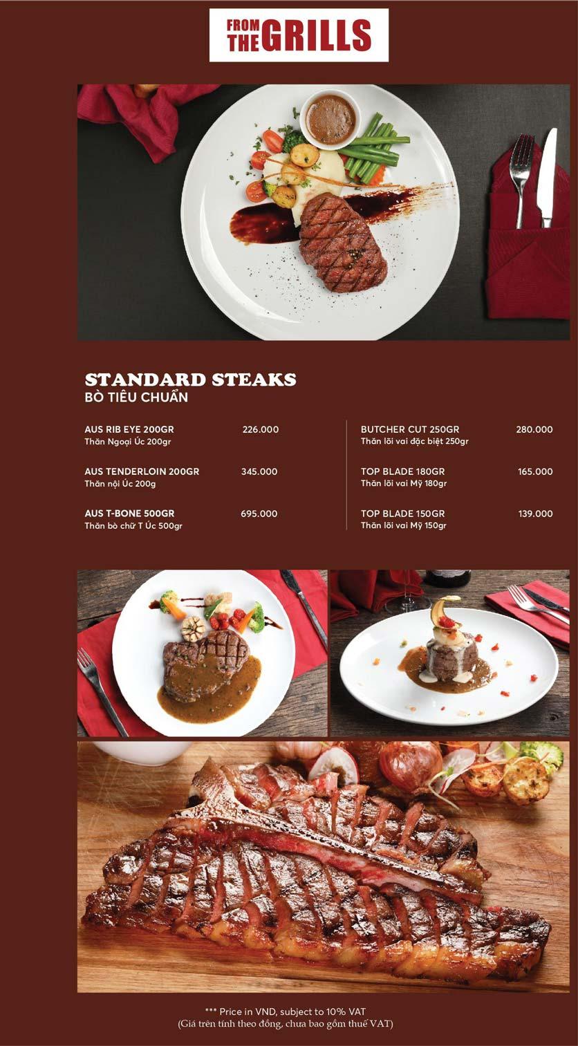 Menu GRILLE6 Steakhouse - Lê Văn Hưu 11