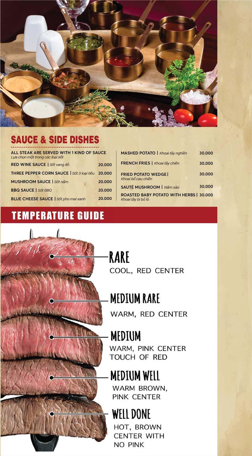 Menu GRILLE6 Steakhouse - Lê Văn Hưu 12