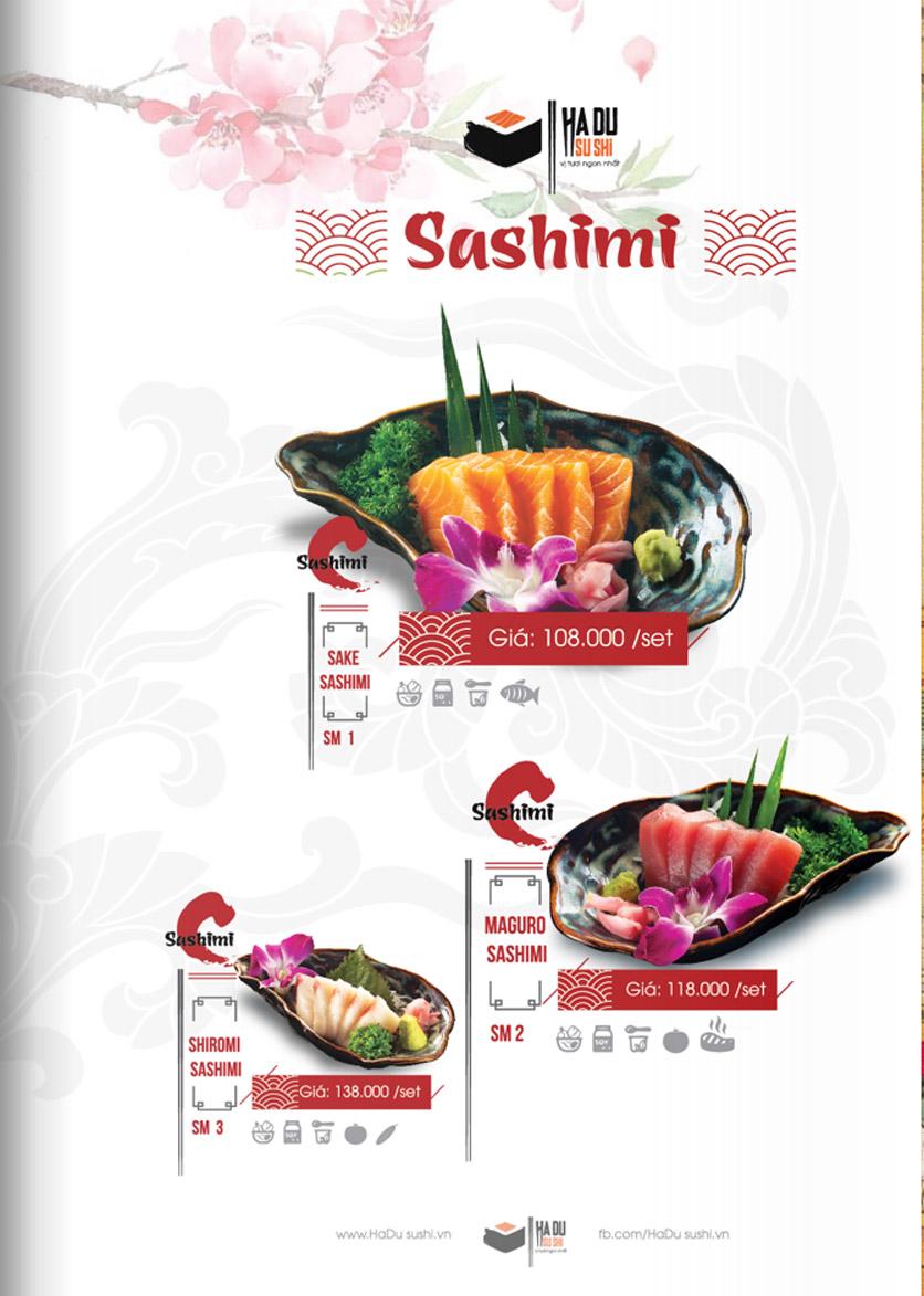 Menu Hadu.Sushi - Xã Đàn     12