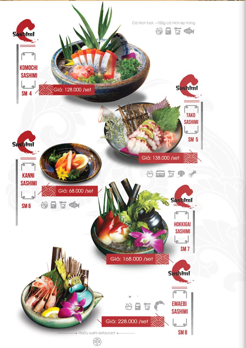 Menu Hadu.Sushi - Xã Đàn     13