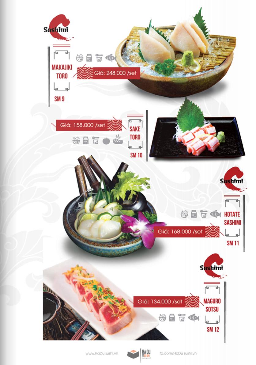 Menu Hadu.Sushi - Xã Đàn     14