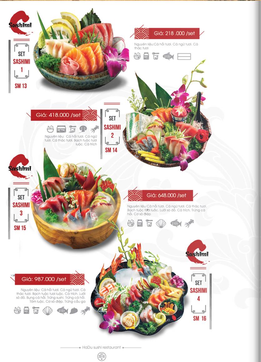 Menu Hadu.Sushi - Xã Đàn     15