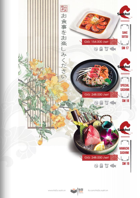 Menu Hadu.Sushi - Xã Đàn     16