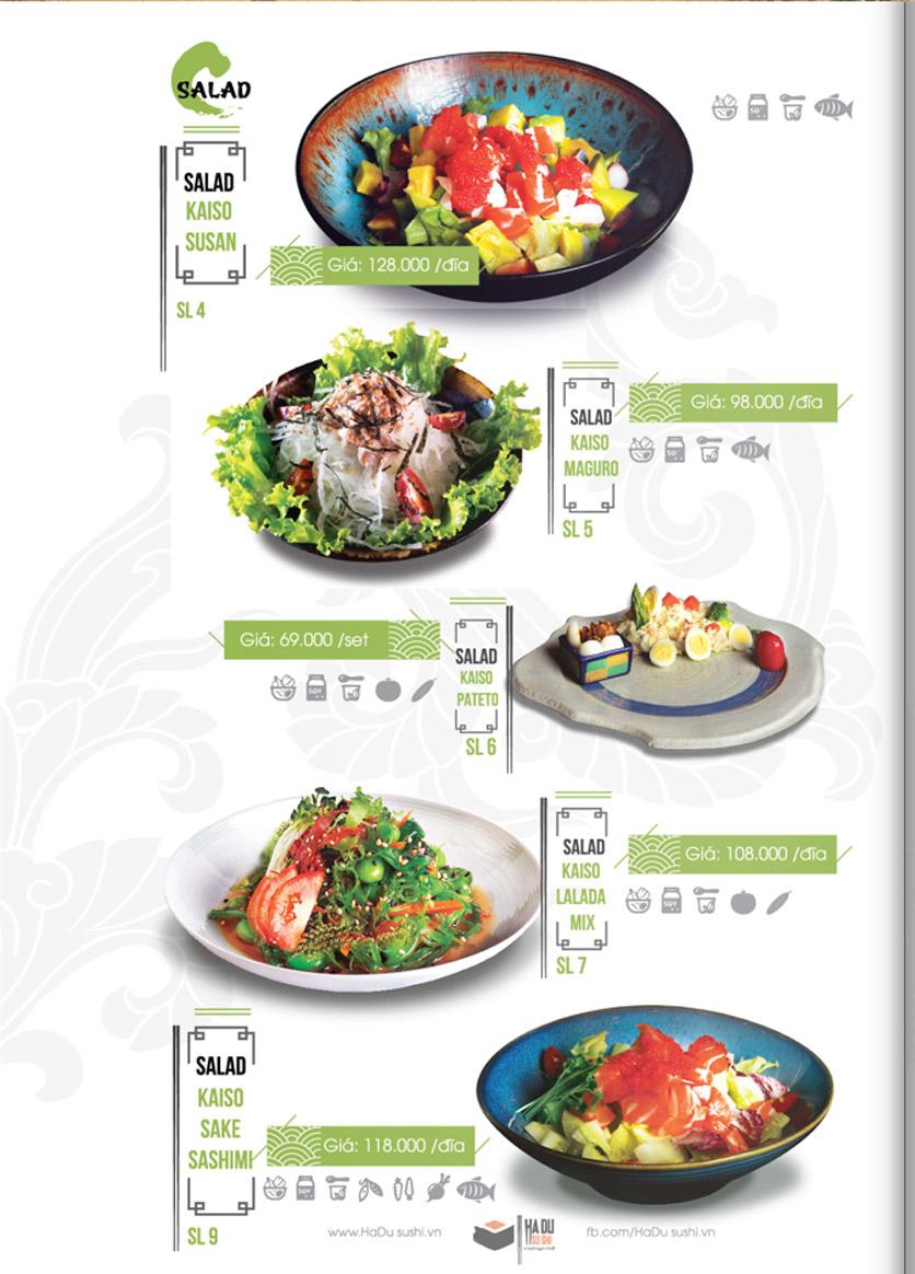 Menu Hadu.Sushi - Xã Đàn     2