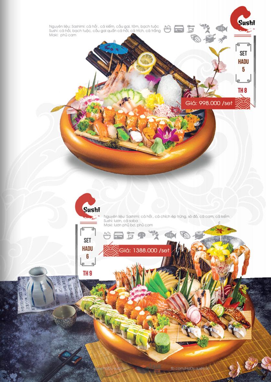 Menu Hadu.Sushi - Xã Đàn     20