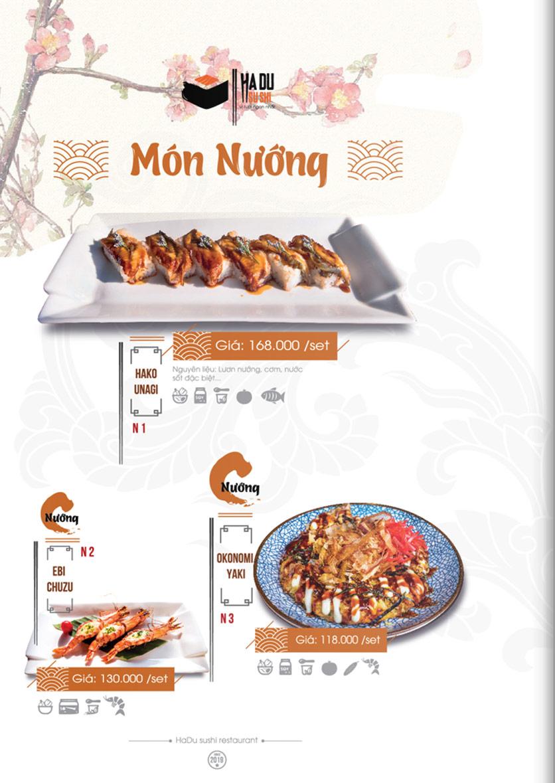 Menu Hadu.Sushi - Xã Đàn     21