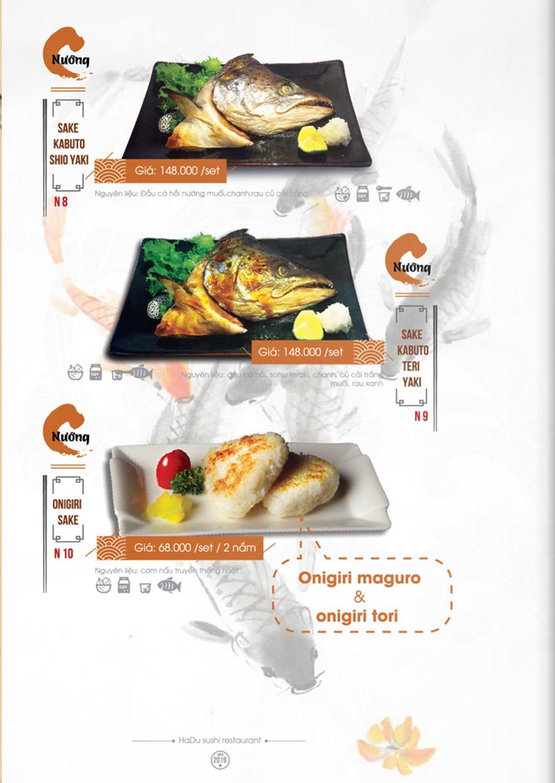 Menu Hadu.Sushi - Xã Đàn     23