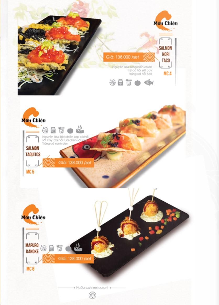 Menu Hadu.Sushi - Xã Đàn     25
