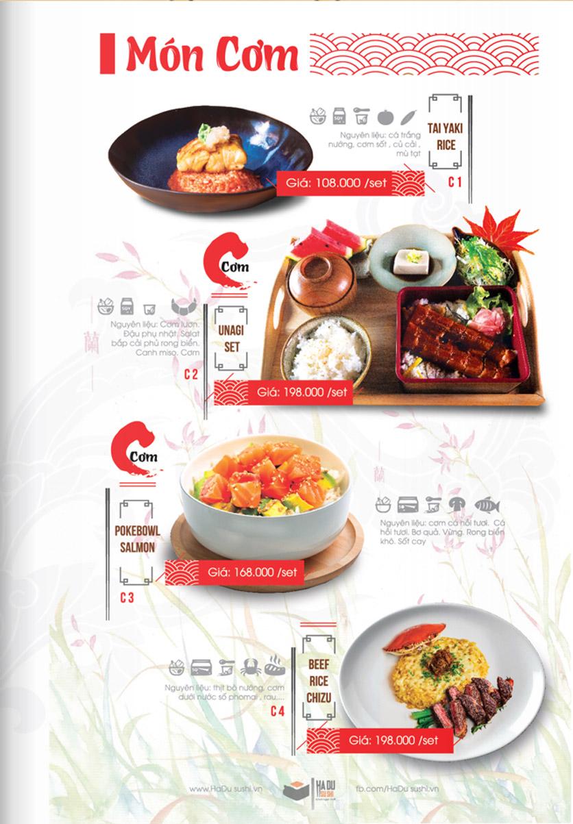 Menu Hadu.Sushi - Xã Đàn     26
