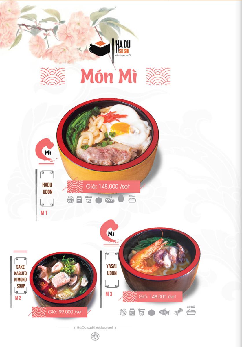 Menu Hadu.Sushi - Xã Đàn     27