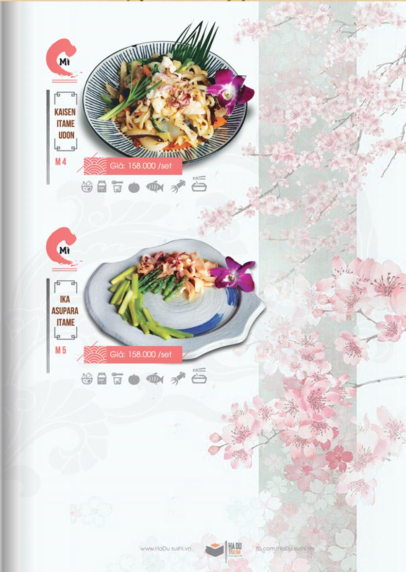 Menu Hadu.Sushi - Xã Đàn     28