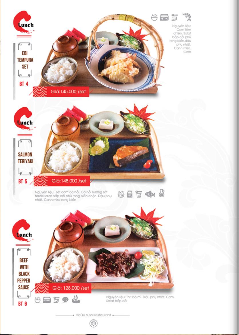 Menu Hadu.Sushi - Xã Đàn     31