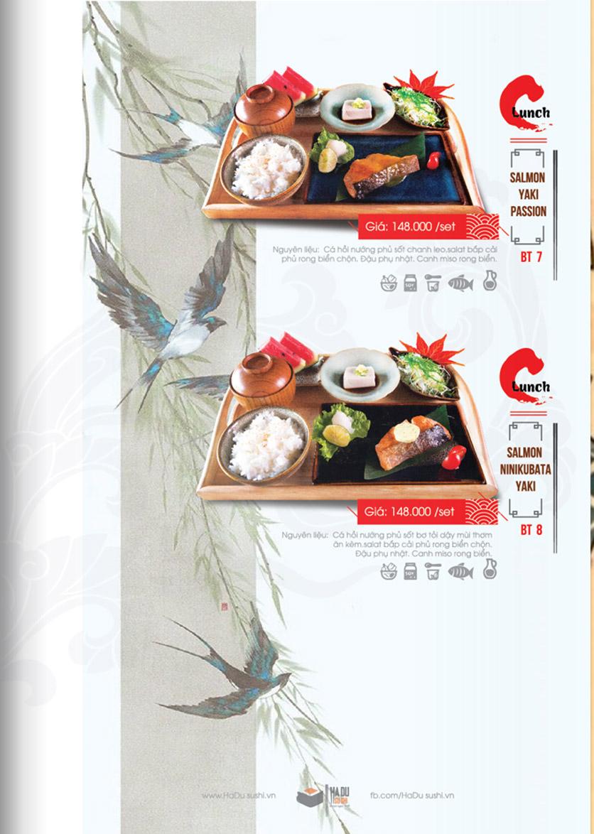 Menu Hadu.Sushi - Xã Đàn     32