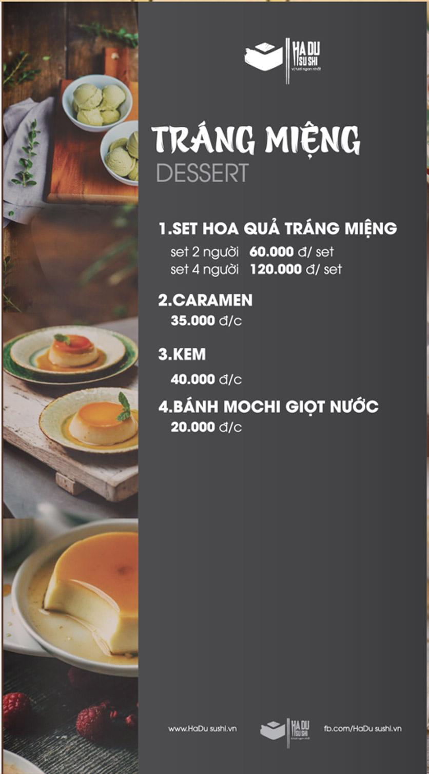 Menu Hadu.Sushi - Xã Đàn     34