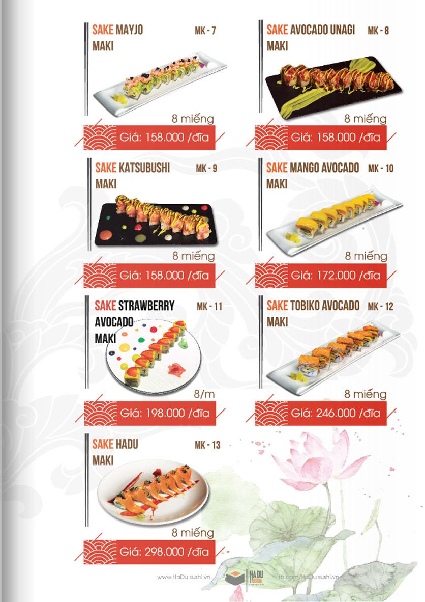 Menu Hadu.Sushi - Xã Đàn     4
